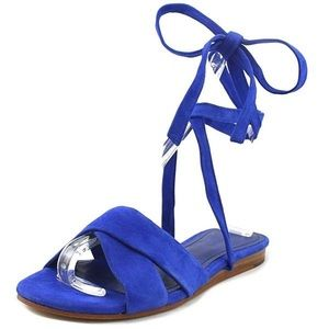 Marc Fisher Electric Blue Lace Up sandals